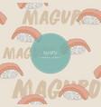 maguro sushi seamless pattern vector image