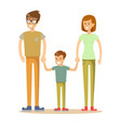 a happy family on white background vector image