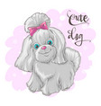 a cute little dog print vector image vector image
