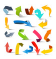 arrows set colorful arrow collection isolated on vector image vector image