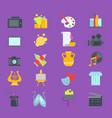 artistic creator graphic designer icons set vector image vector image