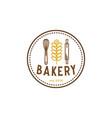bakery vintage logo inspiration vector image vector image