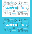 barbershop service icons and symbols vector image