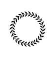 black award laurel in circle shape vector image vector image