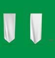 blank white long mockup pennant flag vector image vector image