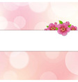 Bokeh Background With Sakura Flowers vector image