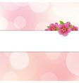 Bokeh Background With Sakura Flowers vector image vector image