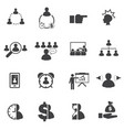 business team building concept icons set vector image vector image