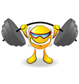 cartoon powerlifter vector image vector image