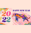chinese new year 2022 design vector image