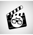 clapper movie and megaphone retro graphic vector image vector image