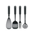 collection of kitchen utensils used for cooking vector image