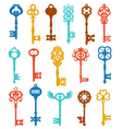 Colorful Keys Set vector image vector image