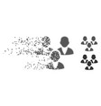 customer group destructed pixel halftone icon vector image vector image