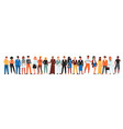 diverse community people standing in line vector image vector image