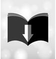 e-book download design vector image vector image