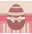 Easter greeting card with chocolate egg vector image