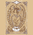 fantasy zodiac sign taurus or bull vector image