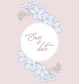 floral card wedding invitation hand draw of vector image vector image