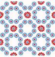 folk art daisy quilt all over print 1950 vector image vector image