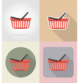 food objects flat icons 11 vector image vector image
