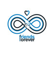 friends forever everlasting friendship conceptual vector image vector image