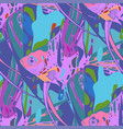 graphic seamless pattern angelfishes drawn in vector image vector image