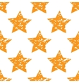 Grungy star pattern vector image vector image