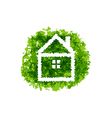 Icon eco home on grunge background vector image vector image