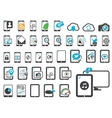 Icons of modern gadgets vector image vector image
