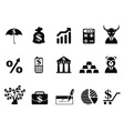 investing and Finance icons set vector image vector image