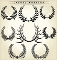 laurel wreaths set vector image