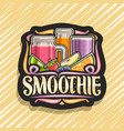 logo for fruit smoothie vector image