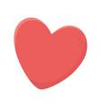 love heart romantic passion icon vector image