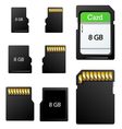 Memory card set vector image