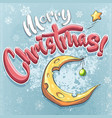 merry christmas with cheese vector image vector image