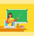 online distance education computer flat concept vector image vector image