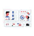 online store sales statistics infograhics vector image vector image