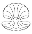 pearl in a shell icon outline vector image vector image