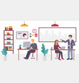 people in creative coworking office center in vector image vector image
