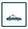 Police car icon vector image vector image