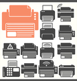 Printer icon sit vector image vector image