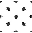 raspberry or blackberry pattern seamless black vector image vector image