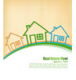 real estate agent flyer vector image vector image