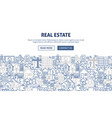 real estate banner design vector image
