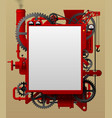red complex iron fantastic machine-shaped frame vector image vector image