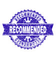 scratched textured recommended stamp seal with vector image vector image