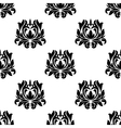 Seamless pattern of floral arabesque motifs vector image vector image
