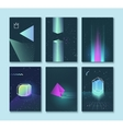 set backgrounds neon space 80s style vector image vector image