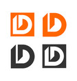 set d letter logo template vector image